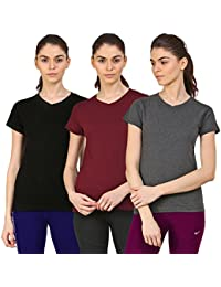 Ap'pulse Women's Short Sleeve T Shirt(Combo Pack of 3)