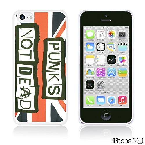 OBiDi - Typography Pattern Hard Back Case / Housse pour Apple iPhone 5C - Life Is Punk Not Dead