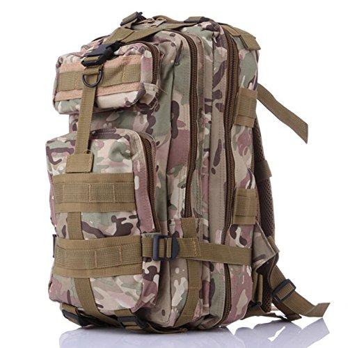 Fulanda zaino sport outdoor zaino tattico camouflage borsa per campeggio viaggio escursionismo, unisex, Khaki CP Camouflage