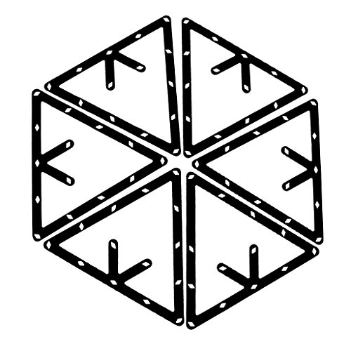 6 Stk. Magische Rack Billard Dreieck Triangel Queue Zubehör schwarz 8,9 und 10 Ball