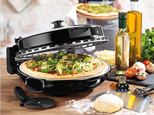Giles & Posner EK2309BLACK Italian Stone Baked Bella Pizza Maker Oven