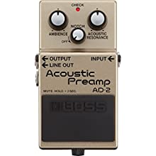 BOSS AD-2 Acoustic Pre Amp Guitar Pedal, Acoustic-Electric Guitar Pre Amp with Advanced BOSS Sound Processing