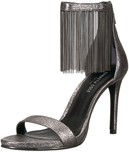 Kenneth Cole Bettina, Sandales Bride Cheville Femme Argent (Gunmetal)
