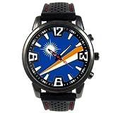 Islas Marshall Reloj para hombre con correa de silicona