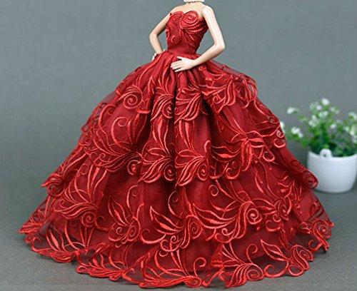 Mode magnifique robe de soirée à la main pour la poupée Barbie /Vêtements (Style 2)