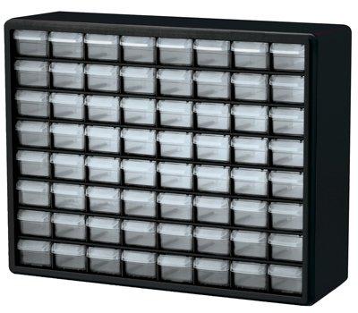 Preisvergleich Produktbild akro-mils 1076464-drawer Kunststoff Teile Aufbewahrung Hardware und Handwerk Cabinet, 20von 16Zoll von 6–1/2Zoll, Schwarz