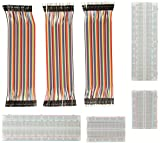 Jumper Wire Mit Breadboard - ALLEU BJ-021 2pcs 400 Pin plus 2pcs 830 Pin Breadboard UND 40x20 Female-Female, Male-Male, Female-Male Jumper Kabel Steckbrücken für Arduino Raspberry Pi