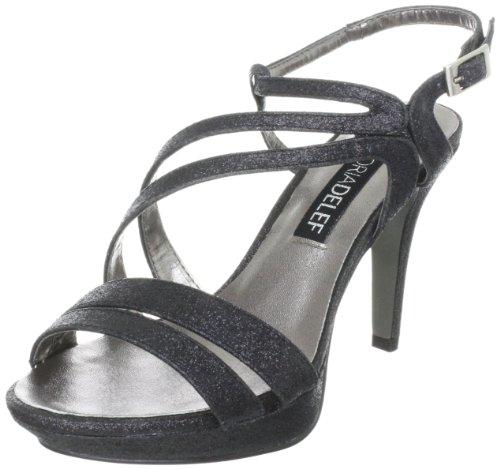 Victoria Delef Sandals, Sandales femme Noir - Schwarz (NEGRO)