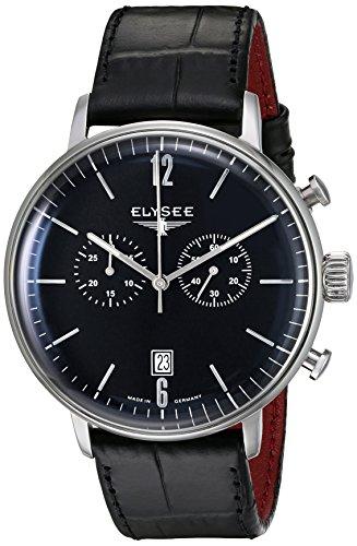Elysee 13277 - Orologio da polso da uomo, cinturino in pelle colore nero