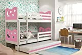 Max Triple trundle kids bunk bed 3 ft 190X90 cm wooden frame FREE mattresesses many colour combination