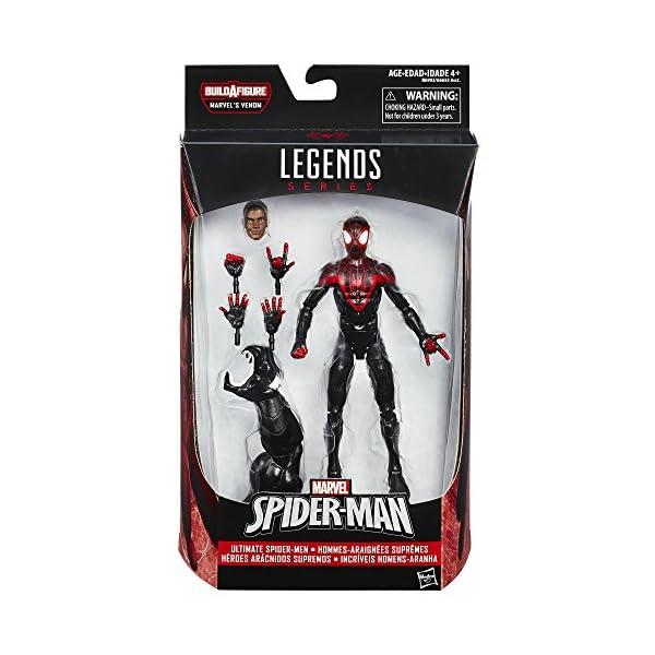 Spider-Man Figura del Hombre Araña de Marvel, de la Serie Legends Ultimate Miles Morales, 15,24cm 2
