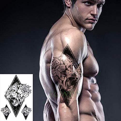Ljmljm 4 pezzi adesivo tatuaggio impermeabile aquila ultraman tatto tatoo gamba gamba braccio pancia grande formato tato per donna ragazza uomo cachi scuro 21x15 cm