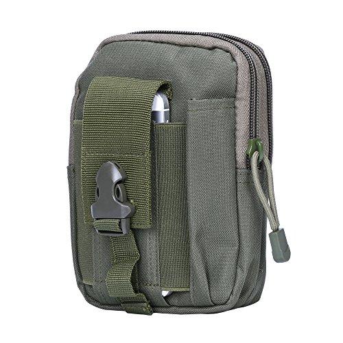 Shopper Joy Tattico Borsa EDC Borsa Molle Hip con Carabiner in alluminio 1000D Materiale per escursioni all'aperto Trekking Camping Travel - Jungle Digital Esercito verde