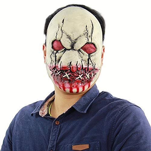Circlefly Blutige Halloween Faulen Mund Zombie Horror Latex Maske unheimlich Spukhaus Zimmer entkommen Dress up Perücke