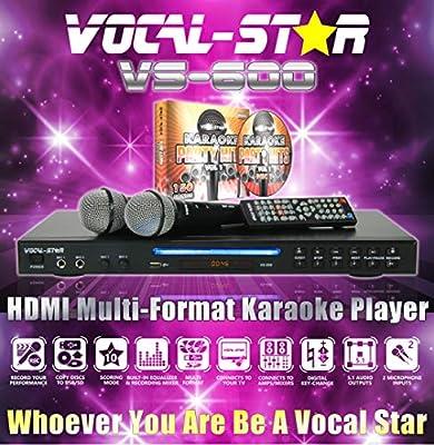 Vocal-Star VS-600 HDMI Karaoke Machine Including 150 Songs & 2 Microphones