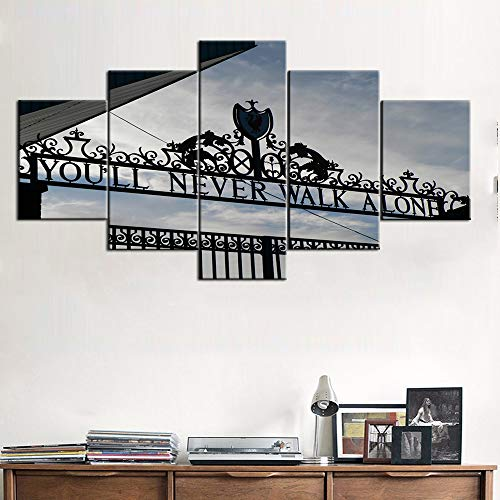 Used, Pictures for Living Room Wall Art 5 Panel Canvas Gate for sale  Delivered anywhere in UK