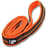 Vivi Bear 44 Inch Long 1 Inch Wide Padded 3M Reflective Stripes Soft And Strong Breathable Mesh Dogs Leads Rope With Strong Stainless Steel Hook