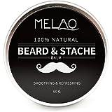 Bálsamo para barba, Bálsamo de barba con aceite de argán y mantequilla de mango, cera de barba...