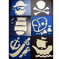 B-Creative Sturdy Plastic Pirate Stencils
