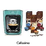 Tchibo Cafissimo mini Flashy Lime inkl. 90 Kapseln – Kaffeemaschine (für Kaffee, Espresso, Caffé Crema und Tee)