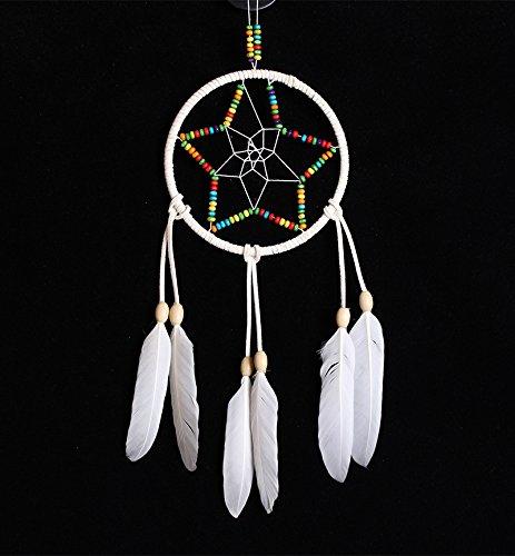 Capteur De Rêves Amérindien avec Plumes Tenture Murale Ornement Cadeau D'artisanat,A,2Pcs