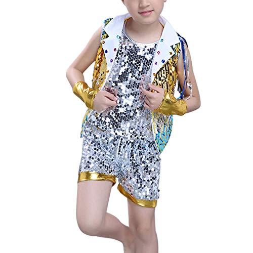Jungen Für Kostüm Ballroom - Gtagain Childrens Sequin Ballroom Jazz Dancewear Rock - Kinder Bühnentanz Kostüme Street Dance Modern Hip Hop Jungen Mädchen Clothing Set
