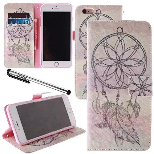 Urvoix pour 11,9 cm iPhone 6/6s, Sketch Dream Catcher Cuir PU Portefeuille Flip Coque – W/photo sur carte support, fermeture aimantée, fonction de support pour iPhone 6/6s (non compatible avec 6/6splus)