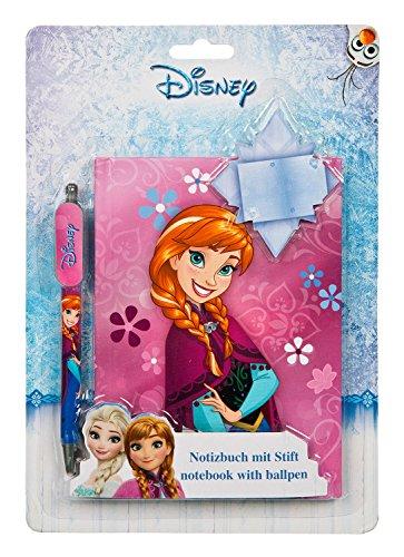 Undercover FRWD7804 - Kinderhandtasche Disney Frozen, ca. 33 x 23 x 10 cm Notizbuch mit Stift