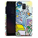 DeinDesign Samsung Galaxy A6 2018 Hülle Premium Case Cover Comic Roboter Cube