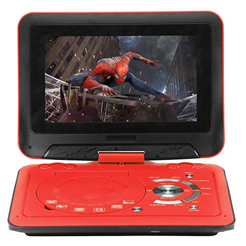 9,8 Zoll Tragbarer DVD-Player Mit Gamepad, Hohe Auflösung, Akku, Wiedergabe in Formate AVI/RMVB / MP3 / JPEG, Unterstützung USB Und SD-Karte (Rot)