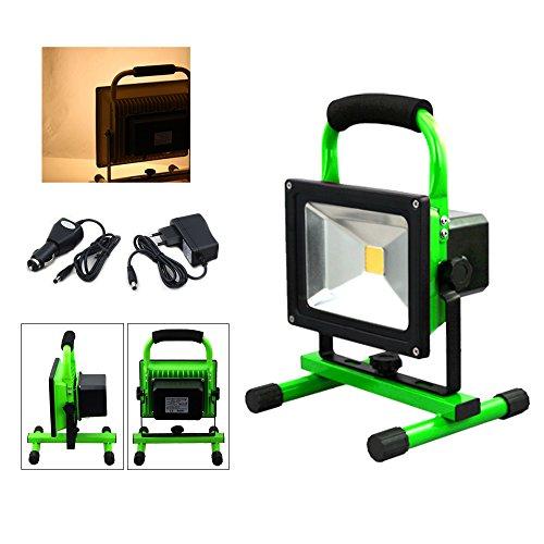 VINGO® 30w super dünn LED Scheinwerfer 4000MA Beleuchtung Warmweiss Strahler 2400LM Betriebszeit 4 Stunden Handlampen Akkulampe Outdoor