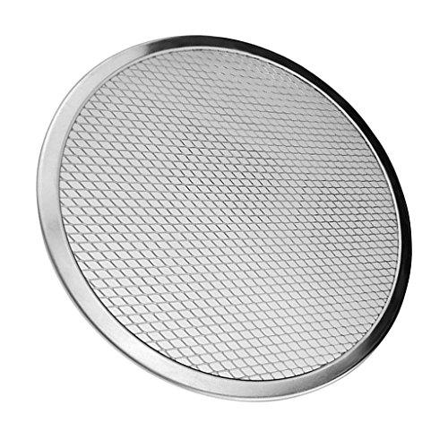 non-brand MagiDeal Pizza Aluminium Pfanne Pizza Tablett Pizzateller für Küche Backen Werkzeug Zubehör - 11 Zoll