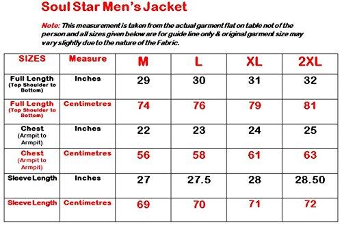 Neue Mens Soul Star Sommer Micro Stoff Kragen gefütterte Jacke Reißverschluss klassische Mantel Stone