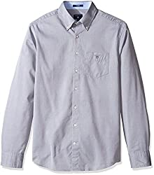 Gant Mens Dobby Oxford Shirt, Graphite, XX-Large