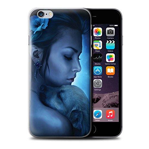 Officiel Elena Dudina Coque / Etui pour Apple iPhone 6 / Cleopatra/Serpent Doré Design / Les Animaux Collection Le Calin/Chiot/Chien