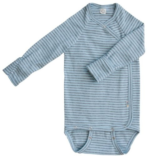 ioBio Wickelbody langarm blue-grey 62/68