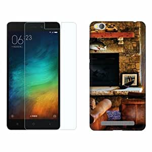 Design Worlds Tempered Glass + Back Cover Combo For Xiaomi Redmi 3S