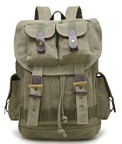 SaySure - Military Tactical Bags Backpack Canvas Vintage School