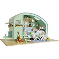 Crazy-Store CUTEROOM DIY Doll House 3D Assemble Wooden Furniture Kid Toy Gift (Miniature Time Travel)