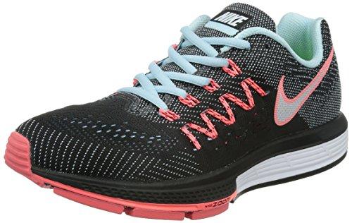 Nike Wmns Air Zoom Vomero 10 Damen Laufschuhe, SC hwarz (Schwarz/Rot), 40.5 EU/9 US (Trainer Sc Schuhe Air)