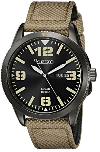 seiko-mens-sne331-sport-solar-black-stainless-steel-watch-with-beige-nylon-band