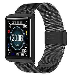 xinxinyu Fitness Armbanduhr, Wasserdicht IP67 Smart Watch Uhr mit Pulsmesser Fitness Tracker Armbanduhr Sport Uhr für Herren Damen Männer
