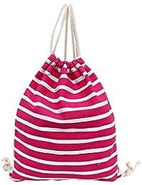 Y-BOA Sac à Dos/Main Organisateur Shopping Voyage Durable Cordon De Serrage Rayure Emballage