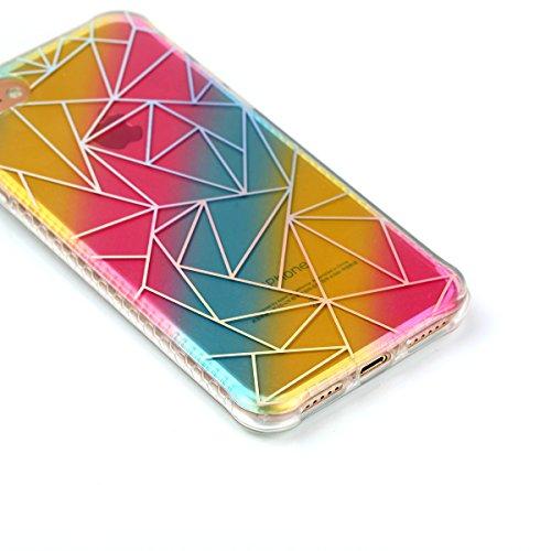Cover iphone 7 / iphone 8, Custodia iphone 7 / iphone 8, Cozy Hut Premium Beautiful IMD Craft Gradient Color Design per iphone 7 / iphone 8 Cover Custodia Silicone Transparente Pulire Stampa TPU Back  triangolo