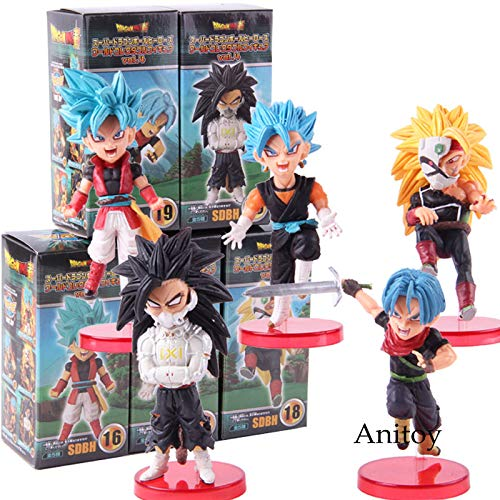 Dragon Ball Helden SDBH Vol.4 Super Saiyajin Bardock Badehose Beat Cumber Vegetto Action Figure Spielzeug 5 Teile/Satz ()
