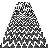 Tapis MeiHao Runner Carpet Corridor Aisle Carpet Skid en jacquard mixte, coureur de...