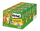 Kitekat Katzenfutter Nassfutter Adult für Erwachsene Katzen Meer und Land in Gelee, 48 Portionsbeutel (4 x 12 x 100g)