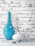 Steintapete Vlies Weiß Edel | schöne edle Tapete im Steinmauer Design | moderne 3D Optik für Wohnzimmer, Schlafzimmer oder Küche inkl. NewroomTapezier-Profibroschüre mit Tipps für perfekte Wände