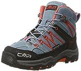 CMP Rigel Mid WP Unisex-Kinder Trekking-& Wanderschuhe, Grau (Acciaio),28 EU