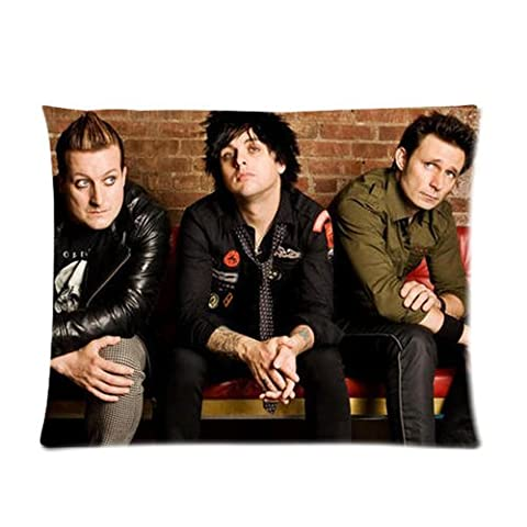 Music Singer Star Series Fashion Personalized Custom Soft Pillow Case Cover 20X26 (One Side)-American Famous Punk Band Uper Cool Green Day Pillowcase